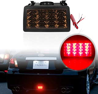 PGONE F1 Style Smoked Lens Red LED Rear Fog Lights Brake Lights Tail Lights For Subaru WRX STi XV Impreza or VX Crosstrek with Wire Harness and Mounting Bracket (Smoked Lens)
