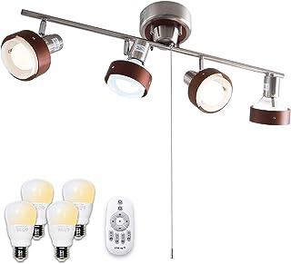 【Amazon限定ブランド】シーリングライト 4灯 リモコン 調光調色 スポット 照明 LED電球付 Nimos+NKC FineKagu+