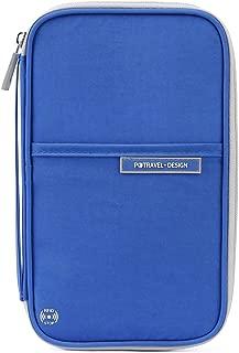 Passport Wallet, RFID Family Travel Passport Holder with Hand Strap, RFID Blocking Credit Card Wallet for Men & Women, Trip Document Organizer Fits Phone and Tickets, by VanFn P.Travel Series (Blue)
