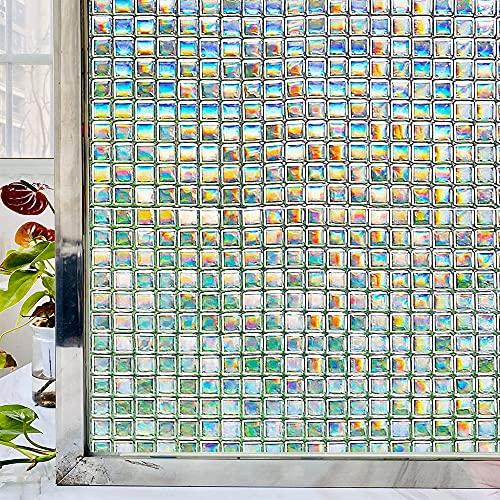 LMKJ Película Adhesiva de Ventana teñida de Mosaico Pegatinas de Ventana Protectoras de privacidad esmeriladas para el hogar Película de Vidrio de Control de Calor de adherencia estática C 40x100cm