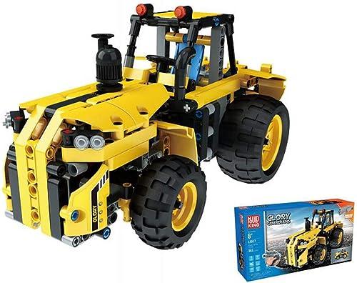 LXWM RC Bloque de Construcción Eléctrico Modelo de Tractor de Ingeniería de Montaje del Coche Inserción de Ortografía DIY Educación Temprana Puzzle Ciencia Juguete Creativo Coche