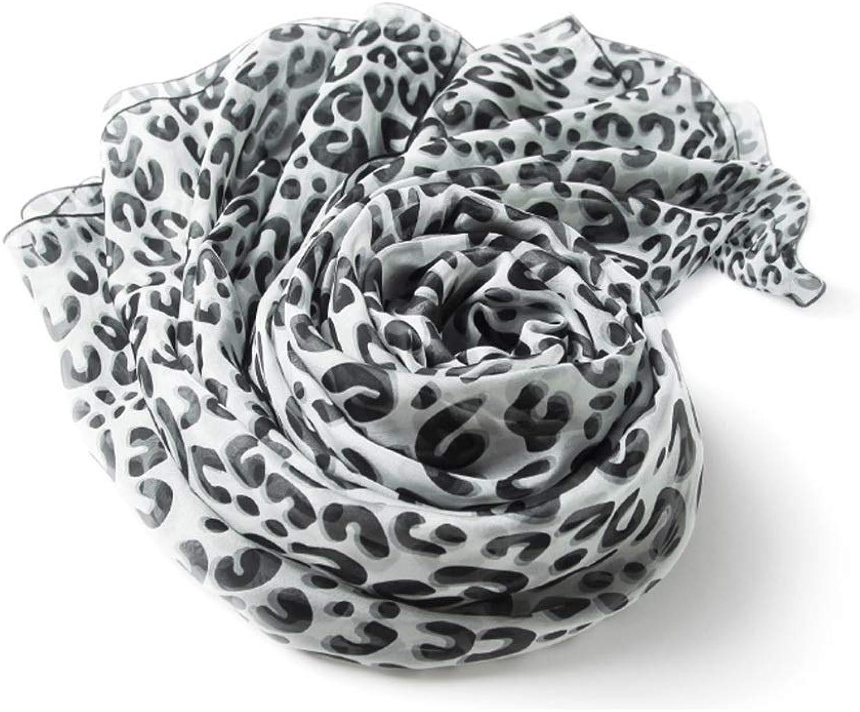 Silk Scarf, Ladies 100% Silk Leopard Large Square Scarf Wild Silk Scarf Thin Silky Soft Large Shawl (color   Leopard B, Size   135  135cm)