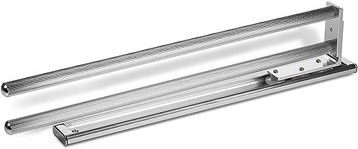 SO-TECH Ausziehbarer Handtuchhalter 2-armig drehbar 444 mm Chrom poliert Handtuchstange Handtuchauszug