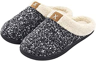DoGeek Women's Slipper Comfort Slip On Memory Foam Slippers Faux Fur Lining Slip-on Clog Scuff House Shoes Indoor & Outdoor