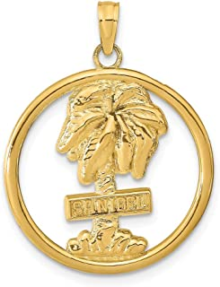 gold palm tree pendant
