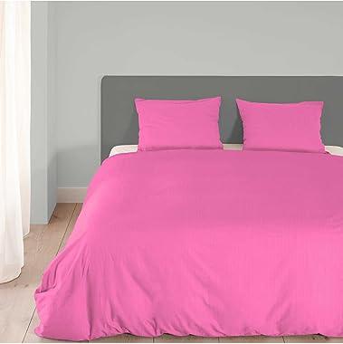 Emotion Duvet Cover, Cotton Light Pink, Double