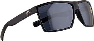 3128bb2aae852 Costa Del Mar Rincon Sunglasses Shiny Black w Polarized Plastic Grey Silver  Mirror 580P Lens