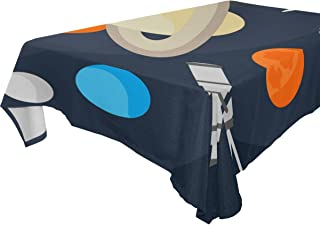 COOSUN Rectangle Space Objects and Telescope Tablecloth for Wedding Party Holidays Washable Polyester Table Cloth Cover, 6...