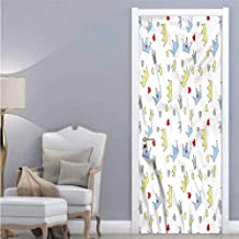 Queen,PVC Wall Decal Self Adhesive Sketch Style Prince Nobility for Home Decor W38.5xH79