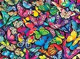 Kit de pintura por números, Amiiba mariposas coloridas de 40,6 x 50,8 cm pintura acrílica por número Wall Art Crafts (mariposa, sin marco)