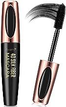 AsaVea 4D Silk Fiber Lash Mascara Waterproof, Luxuriously Longer, Thicker, Voluminous Eyelashes, Long-Lasting, All Day Exquisitely Lush, Full, Long, Thick, Smudge-Proof Eyelashes (Black)