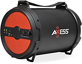 """AXESS SPBT1040 Portable Bluetooth 2.1 Hi-Fi Cylinder Loud Speaker with Built-In 6"""".."""