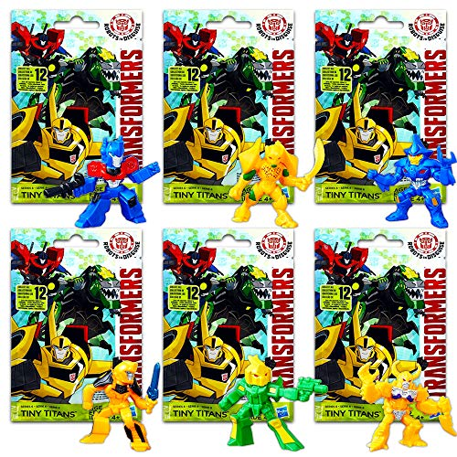 Transformers Tiny Titans Changers Series Set -- 6 Blind Bags with Mystery Figure (Party Supplies, Party Favors)