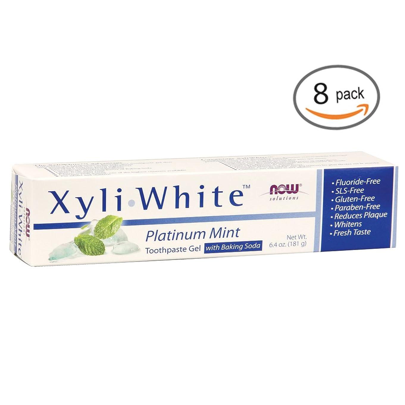 唯物論忠実時々キシリホワイト 歯磨き粉  プラチナミント+ベーキングソーダ 182g 2個パック