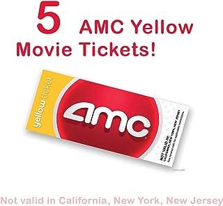 5 AMC Theatre Yellow Movie Tickets (SAVE $12.50!)
