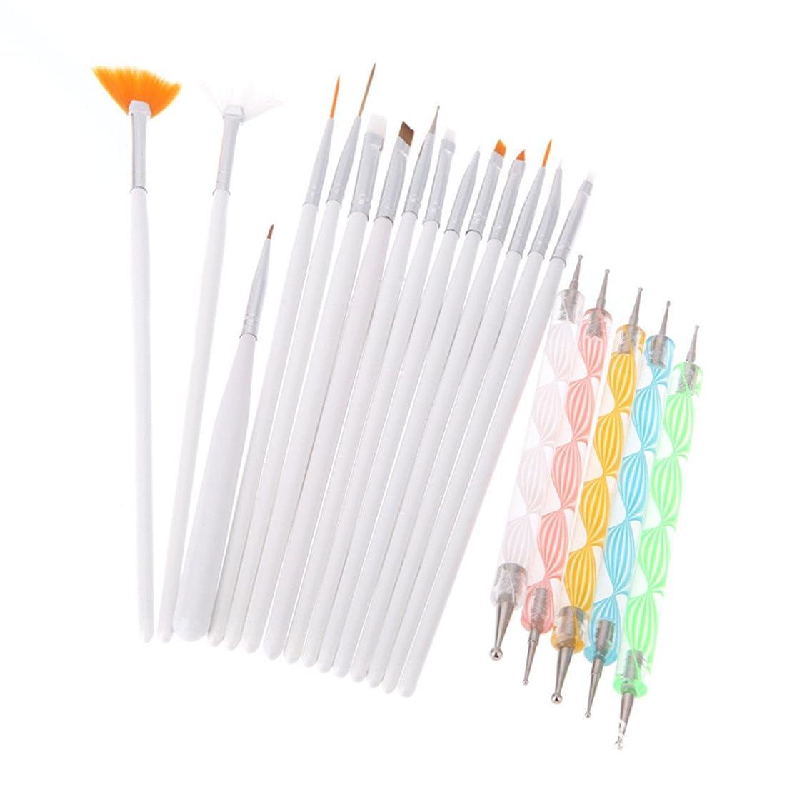 評価スクリューピカソBEE&BLUE ブラシ ネイルブラシ ネイルデザインペン ファション オシャレ ペン 美人 ホワイト