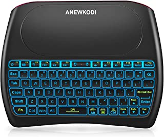 ANEWKODI 2.4GHz Mini Wireless Keyboard with Touchpad Mouse Combo, Rechargeable Li-ion Battery & Multi-Media Keys Handheld Remote Control Keyboard for Smart TV, Android TV Box, PC, Pad, Raspberry Pi