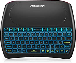 ANEWKODI 2.4GHz Mini Wireless Keyboard with Touchpad Mouse Combo, Rechargeable Li-ion..