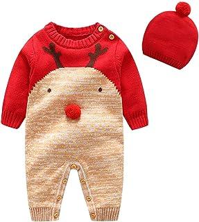 Bebe Mameluco Niños Jersey Navidad Mono - Pijama Invierno