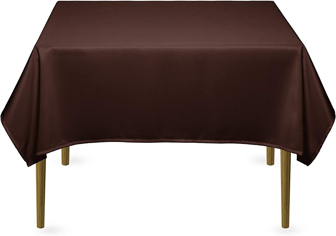 Lann S Linens 54 Square Premium Tablecloth For Wedding Banquet Restaurant Polyester Fabric Table Cloth Burgundy