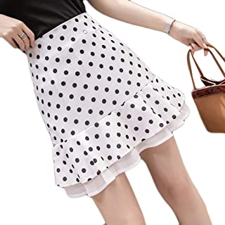 スカート フィッシュテールスカート aライン 水玉柄 通勤 ハイウエスト 大人っぽい セクシー ファッション 落ち着き エレガント 大きいサイズ 良質 黒 アプリコット