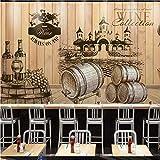 Mmneb Vinoteca De Vino De Encargo Fondo De Tablero De Madera Bar De Ocio Bodega Papel Pintado De Madera 3D Papel Tapiz Personalizado-450X300Cm