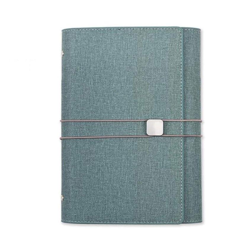 書き込み ノートA5を書く、ハンドアカウント旅行アカウント日記オーガナイザー、ルーズリーフ 学生の (Color : Blue)