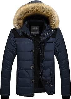 Men's Winter Clothing Men's Thicken Warm Faux Fur Hood Down Jackets Parka Coats