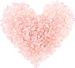 Swpeet 1 Pound Pink Crystal Small Tumbled Chips Stone Gemstone Chips Crushed Pieces Irregular Shaped Stones Crystal Chips ...