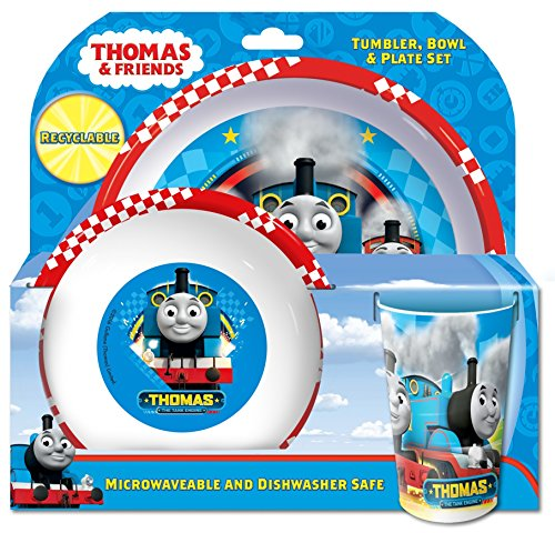 Thomas-Besteck, Plastik, rot, Three-Piece