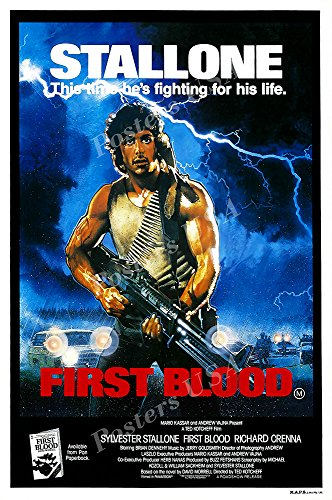 Posters USA - Stallone Rambo First Blood Movie Poster GLOSSY FINISH - FIL150 (24' x 36' (61cm x 91.5cm))