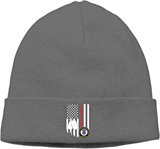 Unisex Knitted Hat Skull Hat Beanie Cap for Mens and Womens - US Flag Army Veteran 10th Mountain Infantry Division