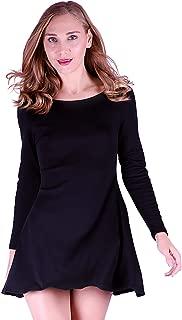 Women's Casual Long Sleeve T-Shirt Loose Cotton Swing Dress
