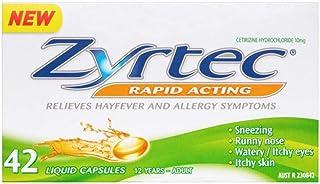 Zyrtec Liquid Capsules, 42 count, Pack of 42