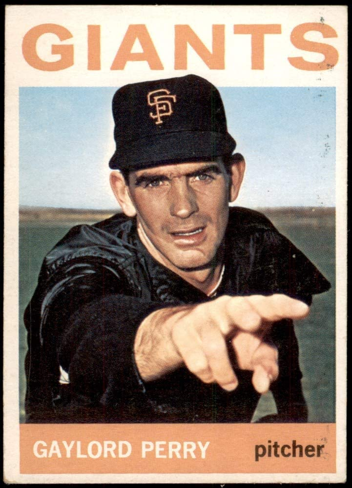 1964 Topps # 468 Mail order Gaylord Perry Francisco Baseball Ca Giants San Time sale