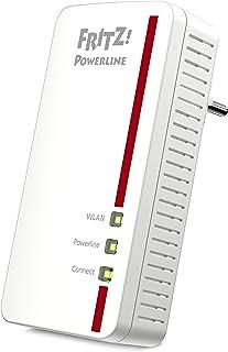 AVM FRITZ! Powerline 1260E Single WLAN International Adapter / Extender (PLC, IEEE P1901, 1200 Mbps, geïntegreerde WiFi A...