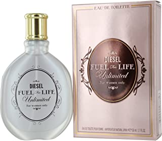 Diesel Fuel for Life Unlimited Eau De Toilette Spray for Women, 1.7 Ounce