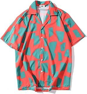 Xmiral Män vardaglig strand kortärmad lös semester tryckt t-shirt