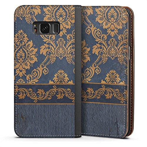 DeinDesign Leder Flip Case kompatibel mit Samsung Galaxy S8 Tasche Hülle Ornamente Barock Pattern