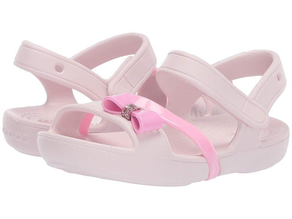 e3febf270008 Crocs Kids Lina Charm Sandal (Toddler Little Kid) (Barely Pink) Girls