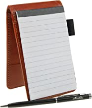 top bound leather notebook