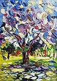 jakaranda olio su tela 70x50cm Bis riesige abstrakte Malerei, originelle Textur, modern, himmelblau, silberfarben, Glitzerfolie, Metall, Glitzer, weiß, handgemacht, Canvas, Kunst