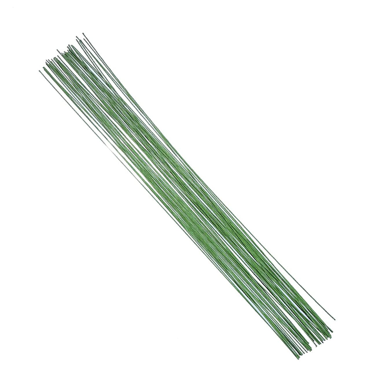 Decora 20 Gauge Green Floral Stem Wire 16 inch,50pcs/Package
