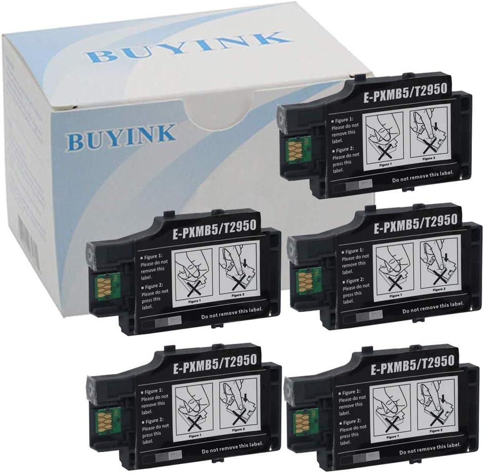 5 Pack Remanufactured T2950 Maintenance Box Compatible for WF-100 WF-110 WF-100W WF-110 Printer