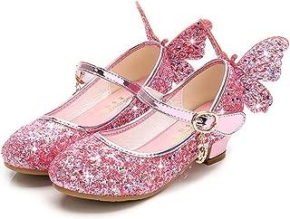通用 HB Girls Princess Ballet Shoes Plat Glitter Low Heel 3cm Dance Party Shoes