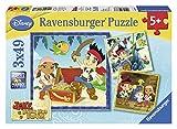 Ravensburger 093373 Jake y los Piratas de nunca jamás - Puzzle, 3 x 49 piezas