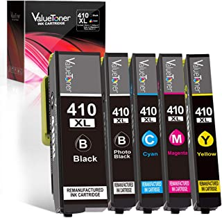 Valuetoner Remanufactured Ink Cartridge Replacement for Epson 410XL 410 XL T410XL High Capacity for XP-7100 XP-830 XP-530 XP-630 XP640 XP635 Printer (Black, Cyan, Magenta, Yellow, Photo Black) 5 Pack