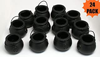 24 Mini Cauldron Kettles Cups - Halloween Toy by happy deals