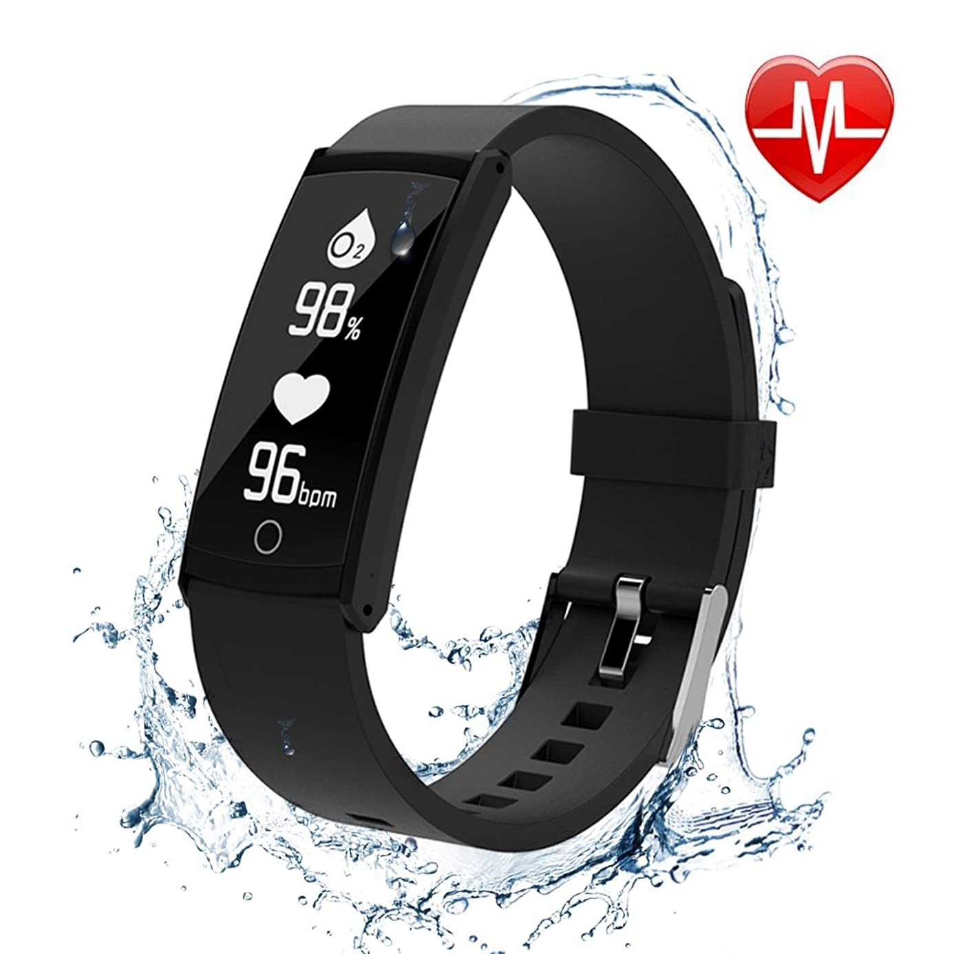 HOMEWINS Fitness Tracker, with Blood Pressure Monitor for iOS&Android Phone, IP68 Waterproof Smart Wristband with Calorie Counter Watch Pedometer Sleep Monitor for Kids Adults