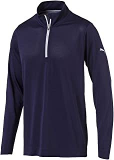 PUMA 577405 Men's Evoknit 1/4 Zip Popover Shirt, Medium, Peacoat